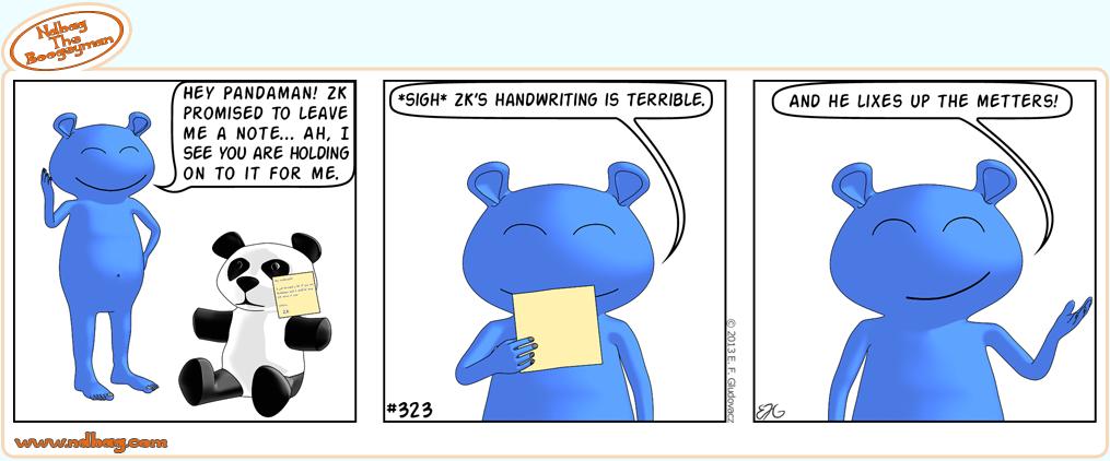 Comic Strip 323 Ndbag The Boogeyman